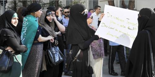 Demo aktivis muslim Austria