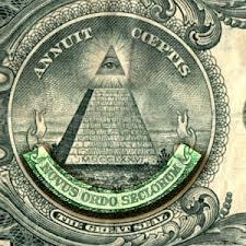 Simbol dan Agenda Dajjal di pecahan mata uang 1 Dollar AS.