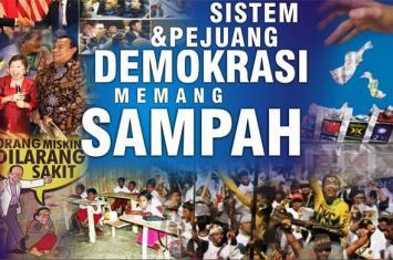 demokrasi = sampah