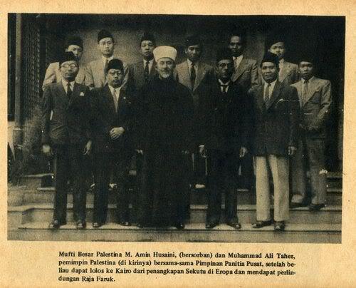Kemerdekaan-Indonesia-Panitia-Pembela-Indonesia-di-Mesir-bersama-Mufti-Besar-Palestina-Syaikh-Muhammad-Amin-Al-Husaini