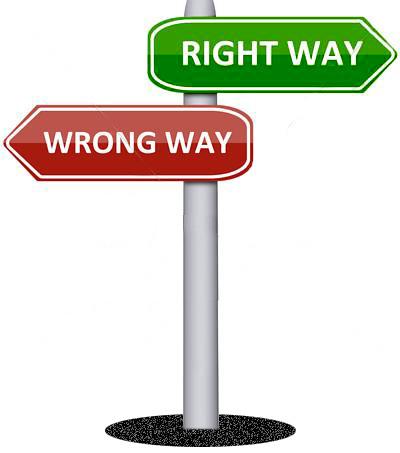 right way-wrong way